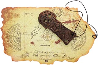 The Goonies Map and Key Replica Set   Pirate Theme Accessories   Premium Quality Movie Props  Perfect for Pop Culture Fans, Collector, Cosplay, Halloween, 80s Party, Kids Costumes, Theatre