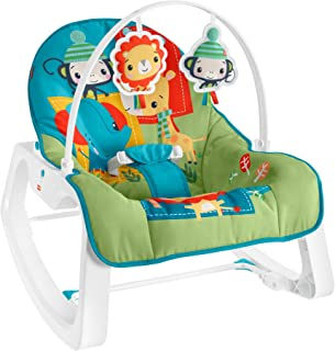 Fisher-Price Infant-to-Toddler Rocker - Colorful Jungle, Baby Rocking Chair with Toys for Soothing or Playtime From Infant...