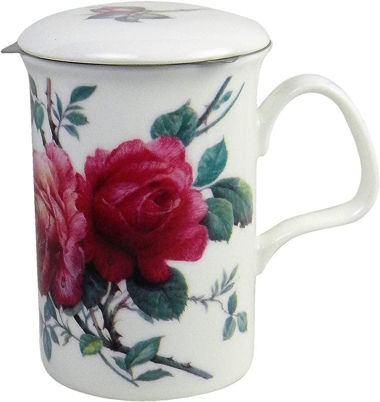 Roy Kirkham English Rose Lancaster Mug And Infuser
