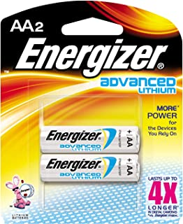 Energizer EA91BP2 Advanced Lithium AA2 Batteries 2 Count (Pack of 12)