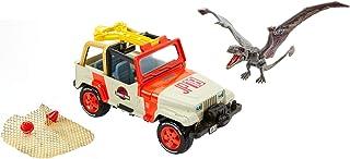 Jurassic World Vehículo rescata dinosaurios, coche juguete (Mattel FNP46)