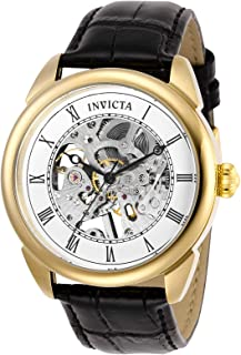 Invicta Men's 'Specialty' Mechanical Hand Wind Stainless Steel Watch, Color:Black (Model: 28812)