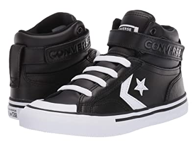 Converse Kids Pro Blaze Strap Hi (Little Kid/Big Kid) (Black/White/White) Boy