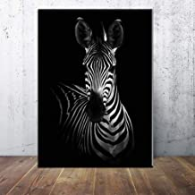 GUDOJK Wall paintings Home decor Wall art zebra animal canvas painting Wall Pictures print for Living Room Art Decoration Pictures No Frame-50x70cm