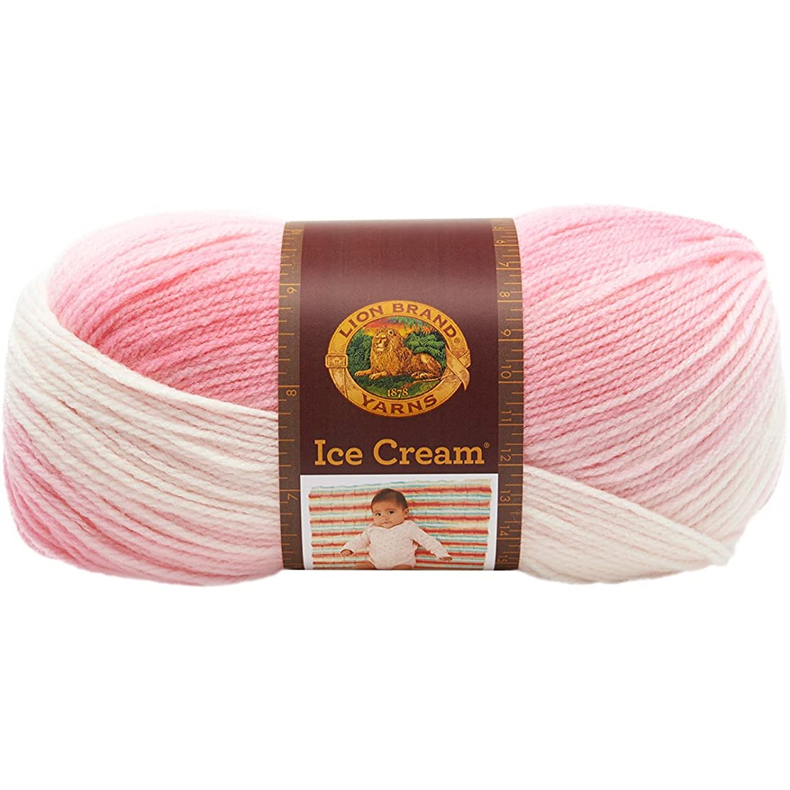 Lion Brand Yarn 923-207 Ice Cream Yarn, Strawberry