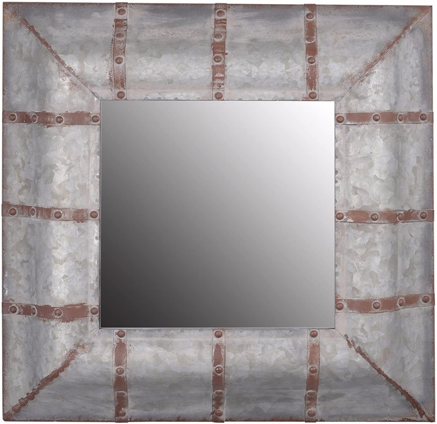 Benzara Unadorned Rustic Framed Baldwin Mirror Home Accents