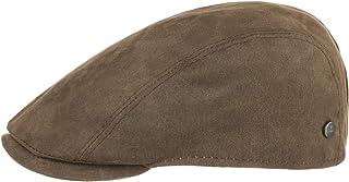 Lierys Coppola Waxed Cotton Uomo - Made in Italy cap Cappello Piatto con Visiera, Fodera Autunno/Inverno