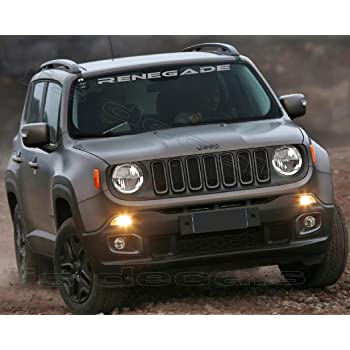 Amazon Com Jis Decals Generic Jeep Renegade Windshield Decal Silver Color 38 Inch Home Improvement