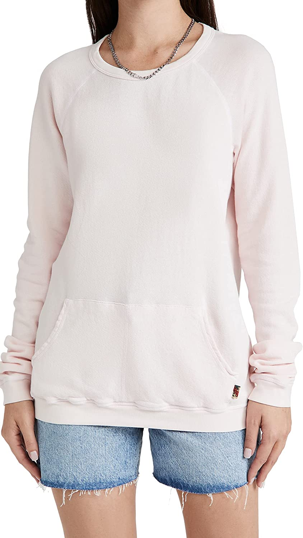 FREECITY Women's Purecolor Pocket All items free shipping Special price Raglan Sweatshirt