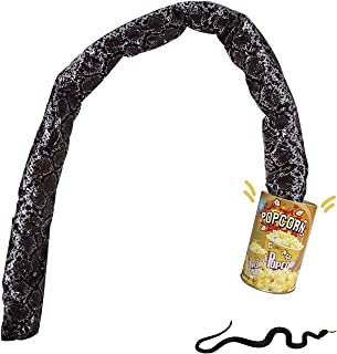 VANVENE 2 Pack Gag Gift Shocking Toys Popcorn Can with Realistic Rubber Fake Snake Set Prank Joke Toy for Halloween Party ...