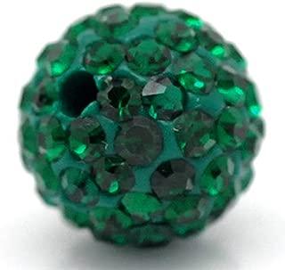 green shamballa beads