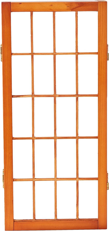 5 Panels Honey Oriental Furniture 2 ft Tall Desktop Window Pane Shoji Screen