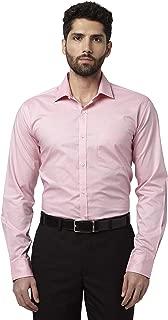 Park Avenue Solid Cotton Medium Red Slim Fit Cutaway Collar Full Sleeve Shirt