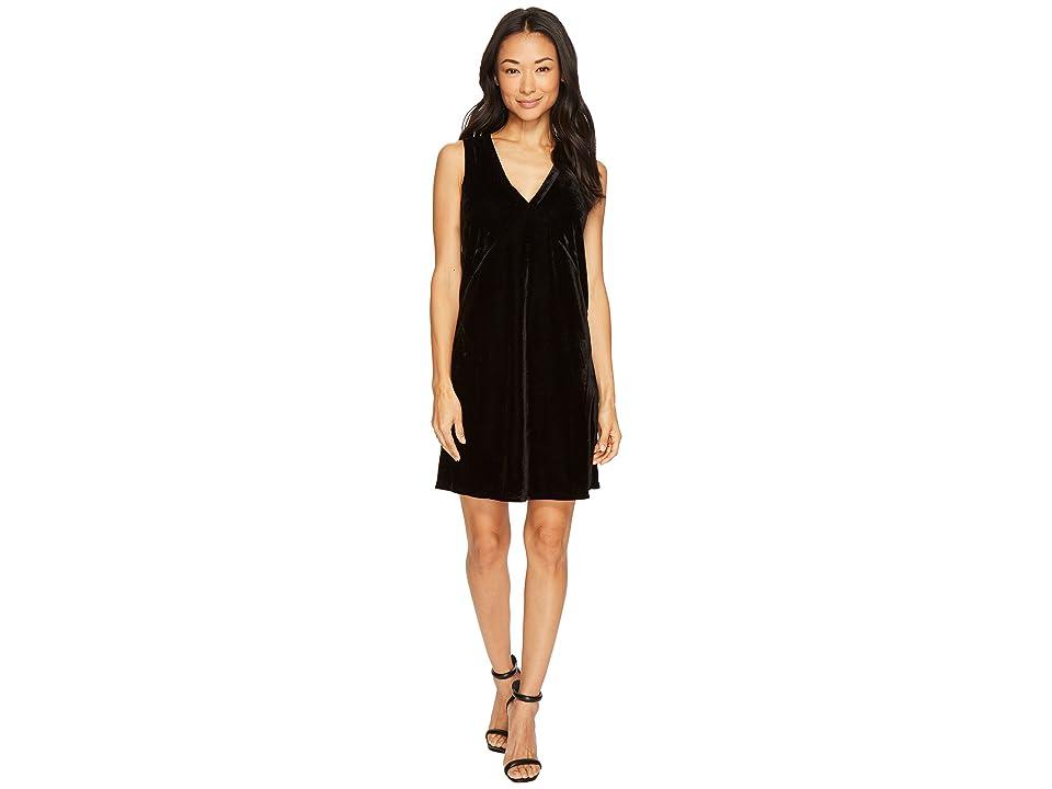 Lilla P Sleeveless V-Neck Dress (Black) Women