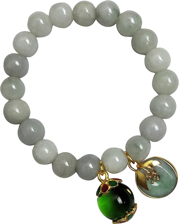 Heavens Tvcz Bracelet Natural Light Green Stone Real Round Heali