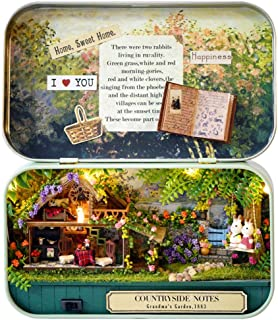 Younar DIY Box Theater Dollhouse Kit, 3D Miniature Wooden Dollhouse Innovative Gift for Kids Friends Birthday 2019 Valentine's Day