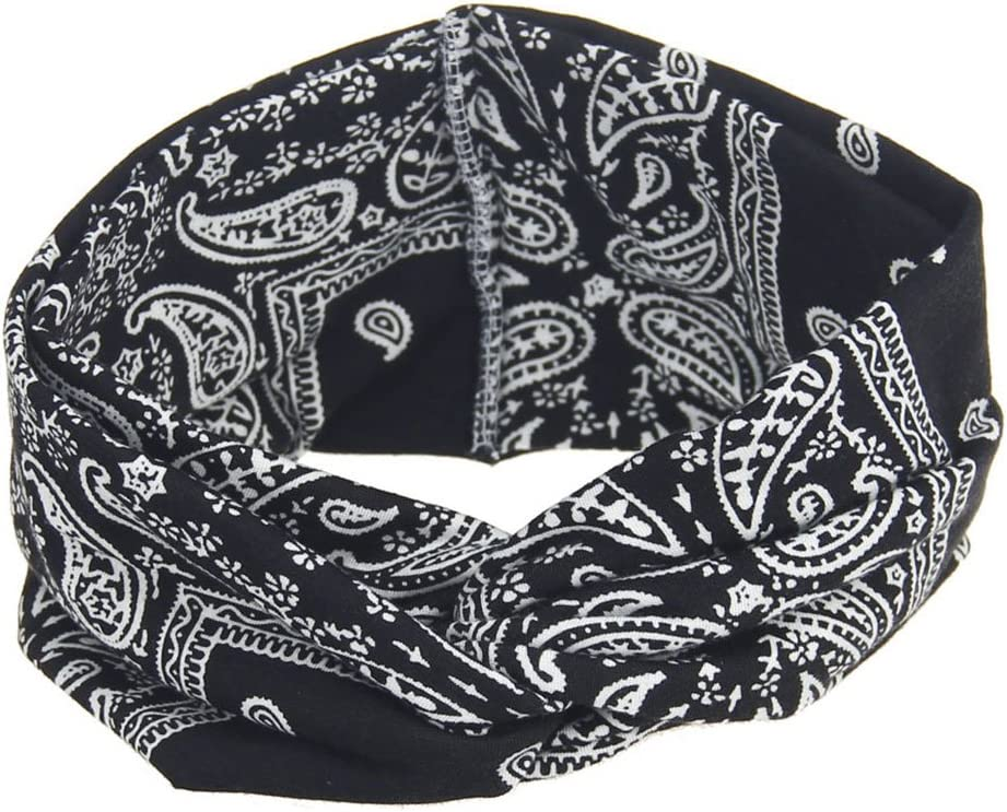 HANZILEI Women Bohemia Wide Stretch Headbands Headpiece Headwrap Turban Bandage Head Band