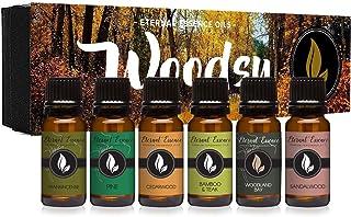 Woodsy Gift Set of 6 Premium Grade Fragrance Oils - Frankincense, Pine, Cedarwood, Bamboo & Teak, Woodland Bay, Sandalwood...