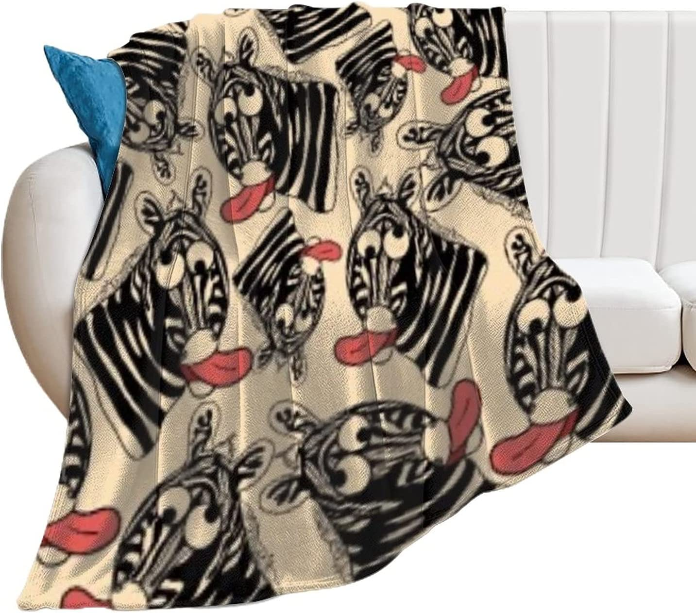 Incredible Zebra Blanket Anime Manufacturer regenerated Safety and trust product Blankets Soft Fleece Plush Throw