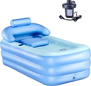 CO-Z Inflatable Portable Bath Tub Adult PVC Foldable Free Standing Bathtub for Adult Spa..