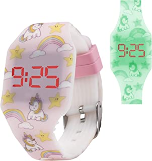 KIDDUS Reloj LED Digital para niña o niño. Pulsera de Silicona Suave para niños y Adultos. Batería Japonesa reemplazable. ...