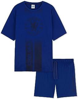 Chelsea F.C. Mens Pyjamas, Summer Short PJs, Chelsea Football Club Gifts for Men