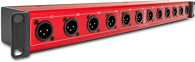 CAT Rack Male - Male XLR Stage Box with Audio Over Shielded CAT Cable. Send 12 Channels of Audio, DMX, Clear-Com or AES.