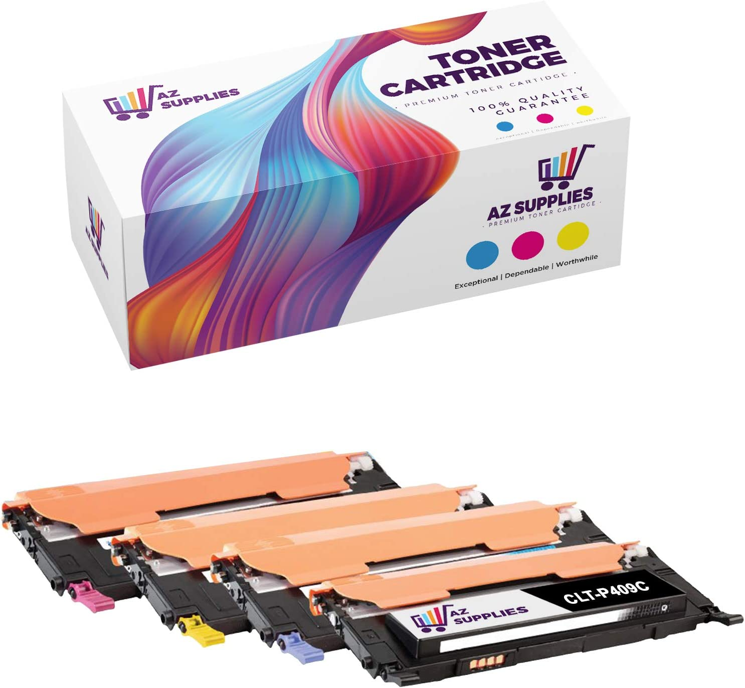 AZ Compatible El Paso Mall Toner Cartridge for CLT-P409C Same day shipping Replacement Samsung