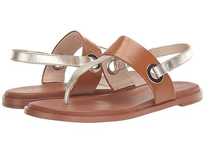 Cole Haan Anera Sandal (Soft Gold Metallic/British Tan Leather) Women