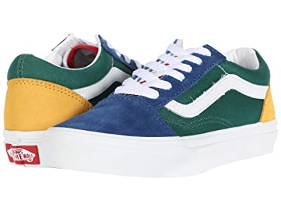 Vans Kids Old Skool (Little Kid) ((Vans Yacht Club) Blue/Green/Yellow) Kids Shoes