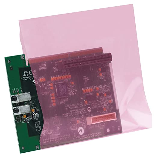 Pink Anti-Static Bags Lay Flat Open Top Boards Electronics PAS 2 Mil Antistatic