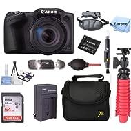 Canon PowerShot SX420 is 20MP 42x Optical Zoom Digital Camera Black + NB-11L Spare Batteries +...