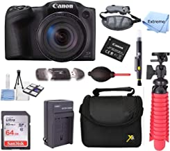 Canon PowerShot SX420 is 20MP 42x Optical Zoom Digital Camera Black + NB-11L Spare Batteries + Accessory Bundle