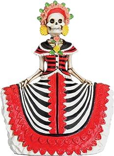 StealStreet DOD Red Senorita Mexican Traditional Skeleton Sculpture