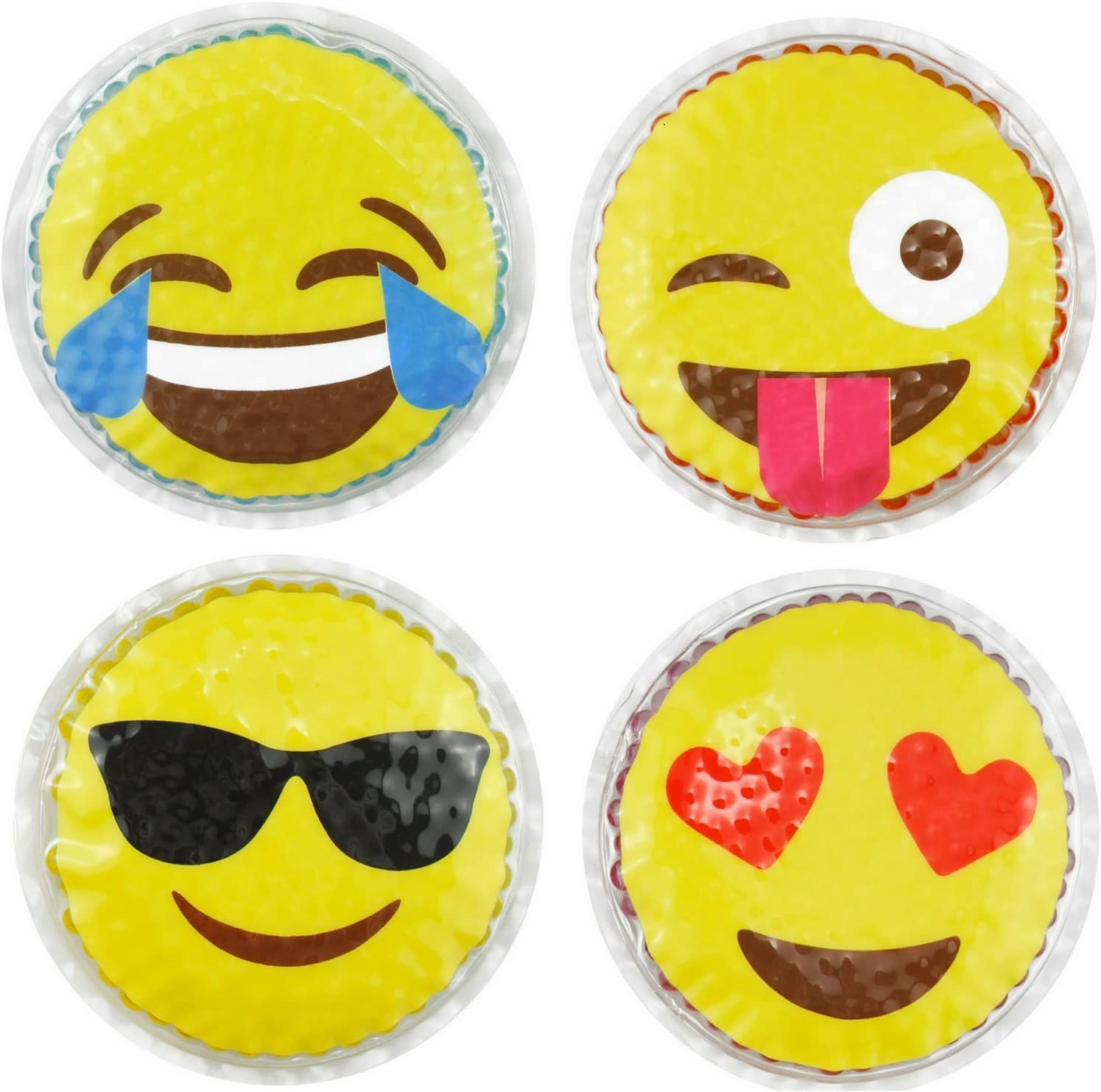 Hot Selling and selling Cold Kids Emoji Super intense SALE Boo Ice Packs by 4 Fu Pack Care FOMI