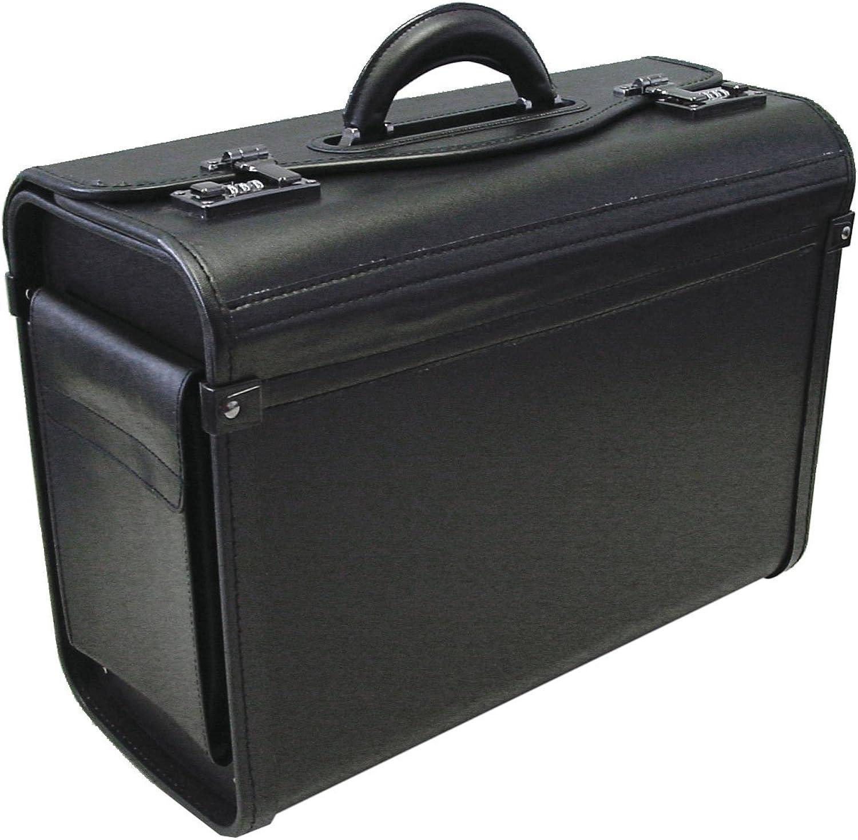 Alassio 45028 - Pilotenkoffer GENOVA, aus strapazierfähigem Lederimitat, ca. 46 x 35 x 20,5 cm, schwarz B000KJMCJS | Qualität und Verbraucher an erster Stelle