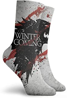 Lsjuee Game Thrones Socks Moisture Wicking Traspirante Outdoor Casual Cuscino Crew Sock Soft Comfort Calzini spessi caldi ...