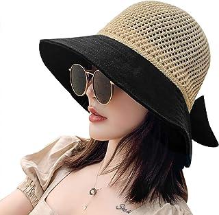 NW 1776 Sun Hat Summer Sunscreen Hat Uv Straw Hat Ladies Beach Hat Foldable Face Sunscreen Woven Straw Hat Black