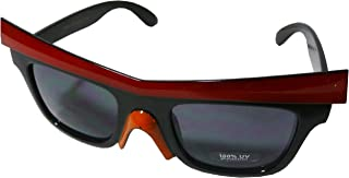 Angry Bird Style Designer Insprired Wayfarer Sunglasses with Brow and Beak - Black Frame w/ Red Brow