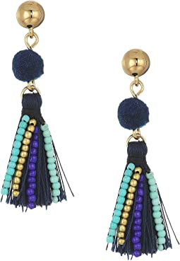 Mixed Media Tassel Earrings
