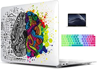 TwoL MacBook Air 13 inch Case 2018 Release A1932 with Touch ID, Plastic Hard Shell Case Cover and Silicone Keyboard Skin & Screen Protector, Conceptive Brain