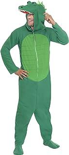 Smiffys-23631L cocodrilo, Todo es un Solo Disfraz con Capucha, Color Verde, L-Tamaño 42