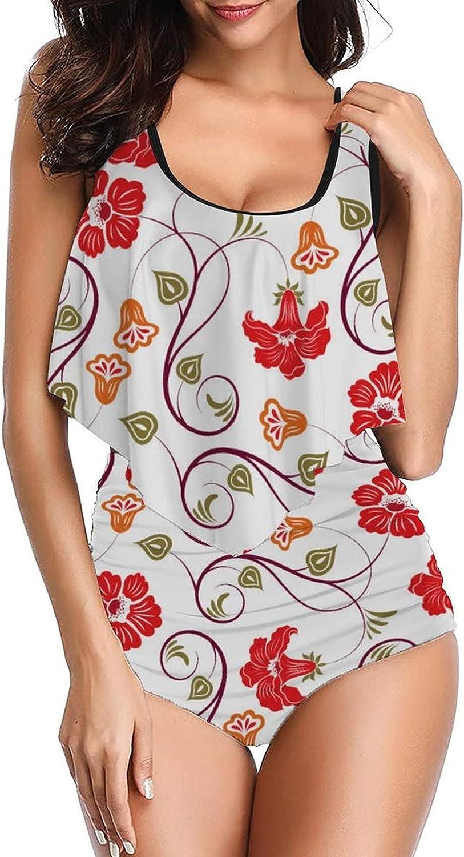 Women Floral Pattern-7 Swimsuits Print with Tankinis Regular dealer Wa Columbus Mall High top