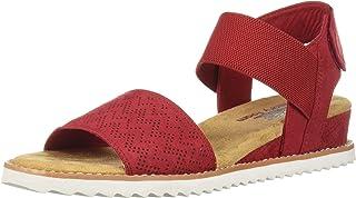 Skechers Desert Kiss - Stretch Quarter strap sandal womens Flat Sandal