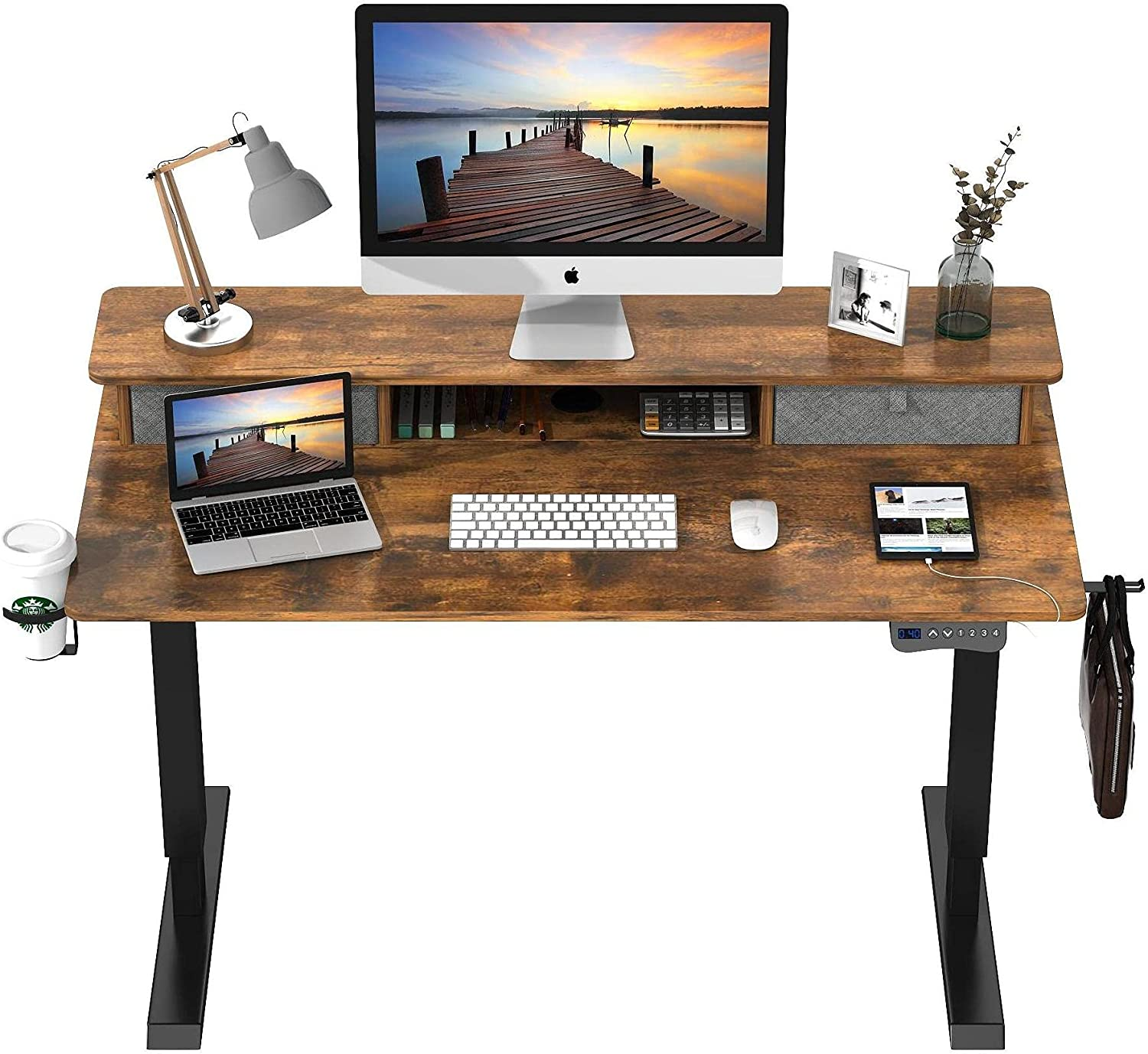 Quantity limited Saedew Electric Ranking TOP6 Standing Desk Adjustable 47 Height Inch wi
