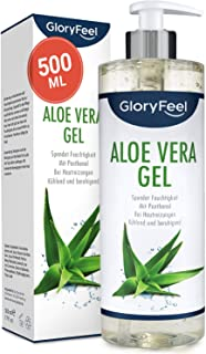 Aloe Vera Gel 500ml - 100% Biologisch Kontrollierter Anbau - Natürliche After-Sun Hautpflege und kühlende Feuchtigkeitscreme - Naturkosmetik Dermatologisch getestet und hergestellt in Deutschland