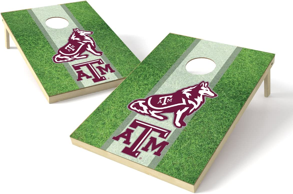 PROLINE NCAA College 2'x3' Texas Animer and price revision Deluxe AM Aggies Set Cornhole