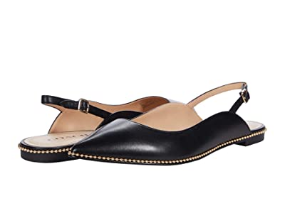 COACH Vae Skimmer (Black Smooth Leather) Women