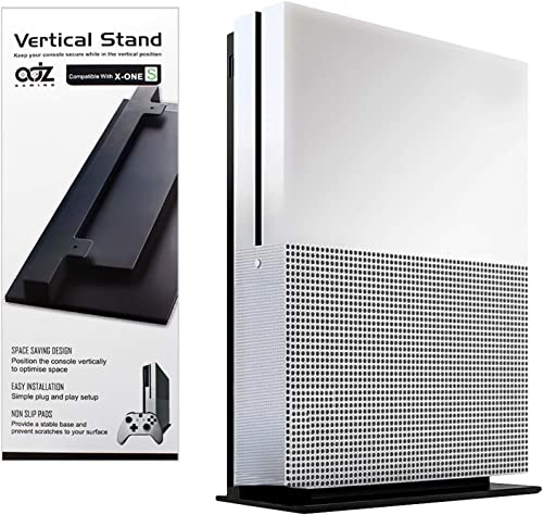 ADZ Black Console Vertical Stand Compatible with Xbox One S