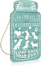 Ja ik heb echt al deze honden nodig Mason Jar Sign, Retro decoratieve muur opknoping plaque, duurzaam houten bord voor thu...